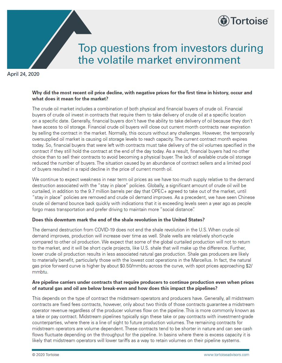 Top questions from investors during the volatile market environment